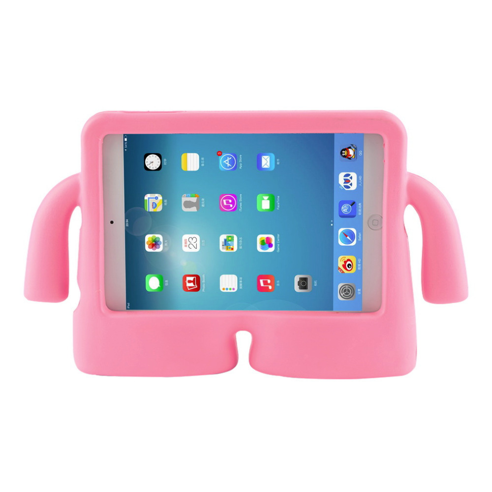 Soft Silicon Handle Design For ipad mini 1 2 3 Kids Children Shockproof Stand Funda For Apple for iPad mini 1 2 3 Silicon Case