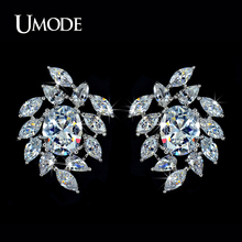 UMODE Brand Summer Jewelry High Quality AAA Cubic Zirconia  Stones Bridal Stud Earrings For Women's Brincos AUE0031