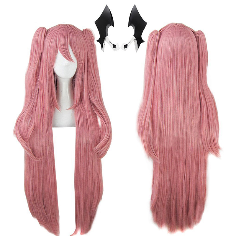 Cosplay Wig Seraph Double-Ponytails Pink Natural Synthetic Long Straight of Krul Tepes