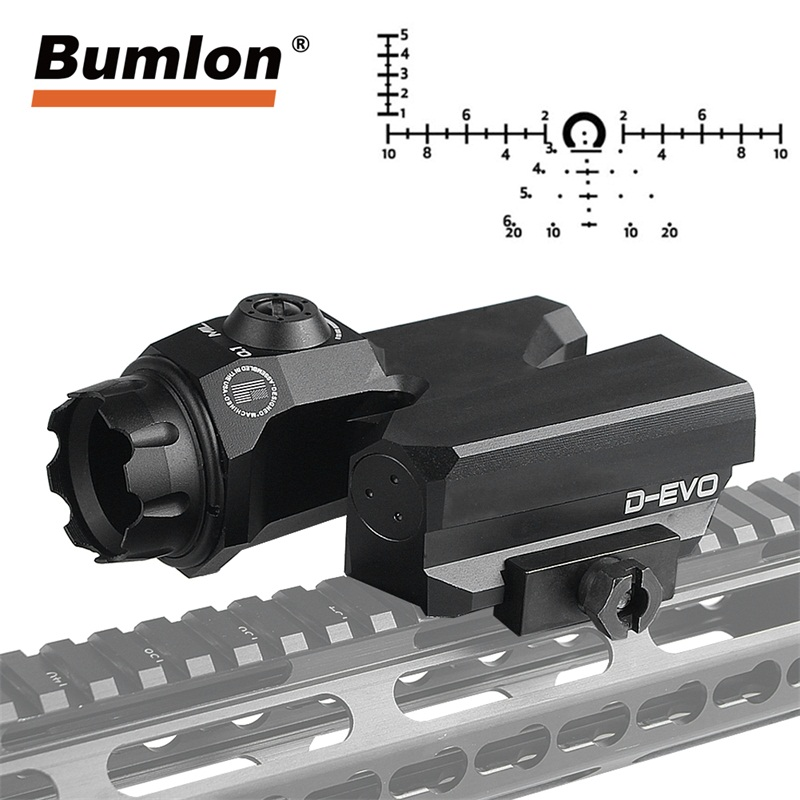 D-EVO Dual-Enhanced View Optic Reticle Rifle Scope CMR-W-Reticle Matt for Hunting Airsoft Magnifier 6x Reflex Sight RL6-0068 leupold d evo dual enhanced optic with special reticle magnifier with lco reflex red dot