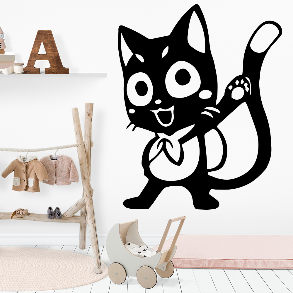 Cute Cat Home Decor Wall Stickers For Baby Kids Rooms Decor House Decoration Party Decor Wallpaper Wallstickers