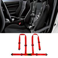 2 Universal Auto Car Saet Belt Vehicle Racing 4 Point Car Safety Seat Belt Buckle Harness Car Quick Release Seat Belt