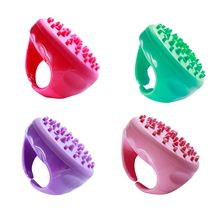 Bath Shower Anti Cellulite Full Body Massage Brush Silicone Soft Comb Relaxing Slimming Anti-Slip Handle SPA Beauty Tools 7 mall anti cellulite full body massage brush slimming beauty slimming massager helps smoothen and tone spongy looking skin