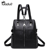 Luxury Backpack Women High Quality PU Casual Bagpack Teenager Girl School Bag Women Leather Backpack Ladies Daypack Mochila