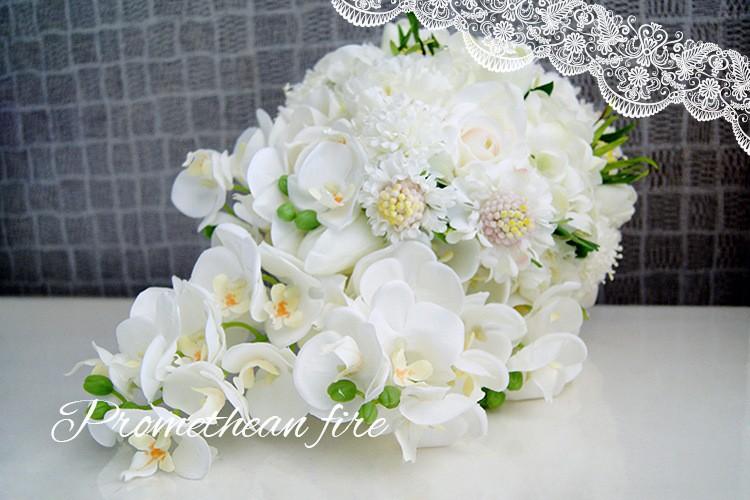 Bridesmaid flower wedding accessories bridal bouquets artificial bruidsboeket fleurs bouquet mariage 6