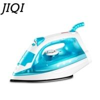 Jiqi handheld vestuário vapor ferro elétrico teflon soleplate lavanderia máquina de passar roupa mini viagem tecido flatiron|Ferros elétricos| |  -