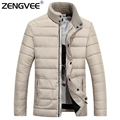 Winter Jacket Men 2017 New Spring Regular Comfortable Soft Casual Zipper Stand Collar Slim Warm Fashion Jackets