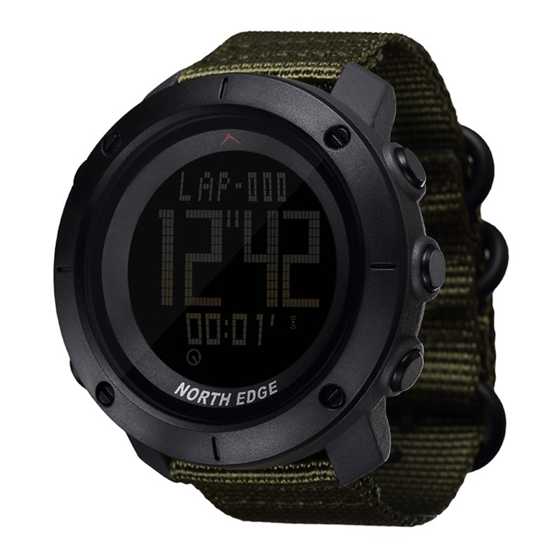 Men's Watches Learned Men Watch North Edge Sport Smart Watches Compass Synchronous Dual Display Waterproof Quartz Digital Clock Military Wristwatch Without Return
