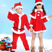 New children's Christmas clothes Europe and America Santa Claus costume boys and girls Christmas costumes claus offe europe entrapped