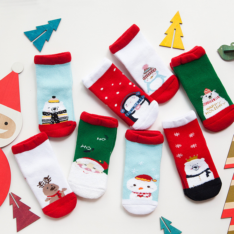 b6d5c7a3131 4 pair lot Winter cotton Christmas socks kids socks cartoon holiday children  socks for boys girls 2 8 year baby socks-in Socks from Mother   Kids on ...