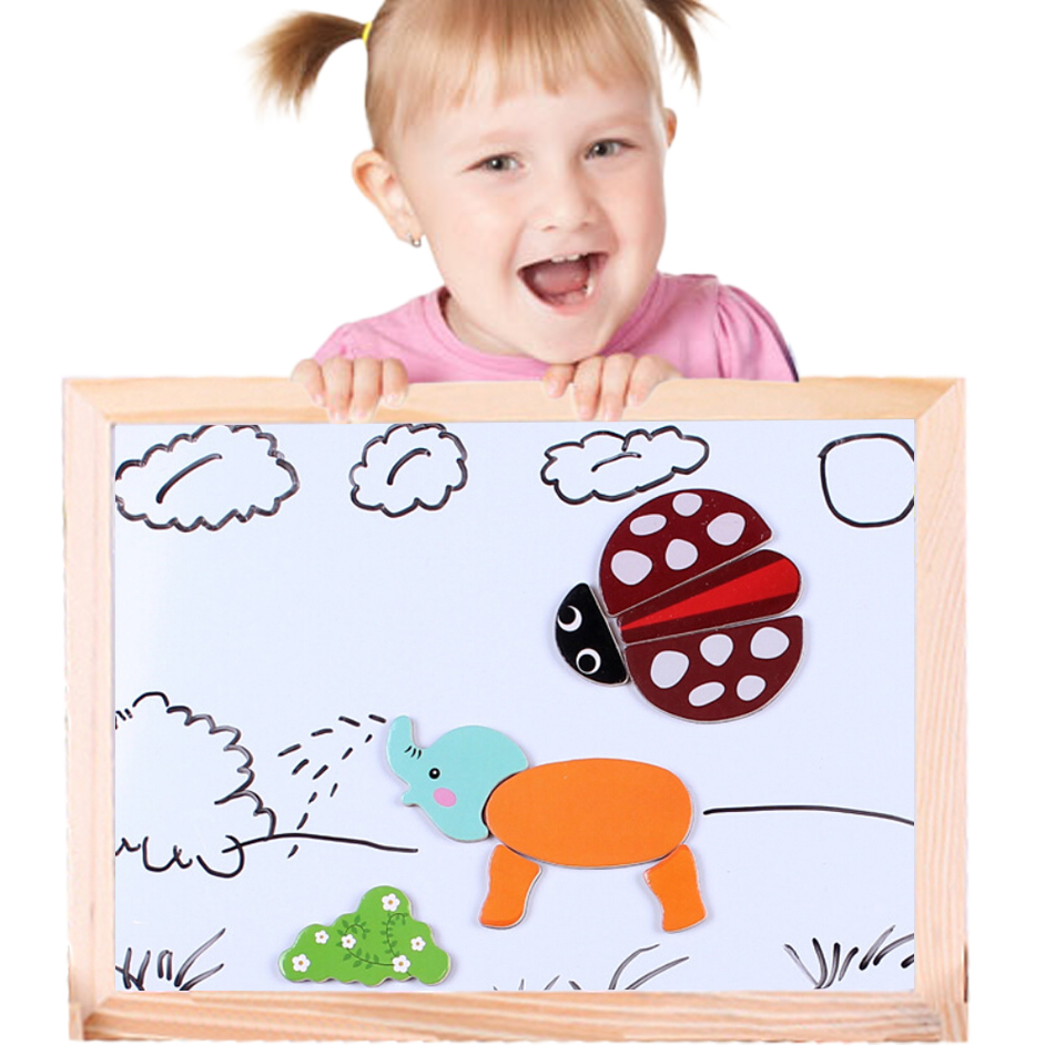 HOT Multifunctional Drawing Writing Board Magnetic Puzzle Double Easel Toy SEP <font><b>01</b></font>