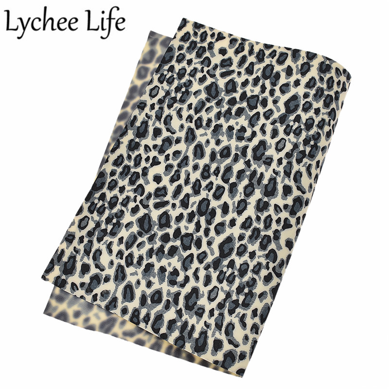 21x29cm Leopard Print PVC Leather Fabric DIY Sewing Accessories Craft for Cloth