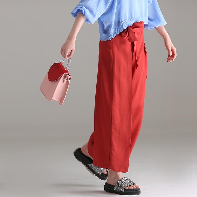 Ancha K1022 De Cordón Pantalones Color Con Red Puro Y Pierna 7Y7wr8xq