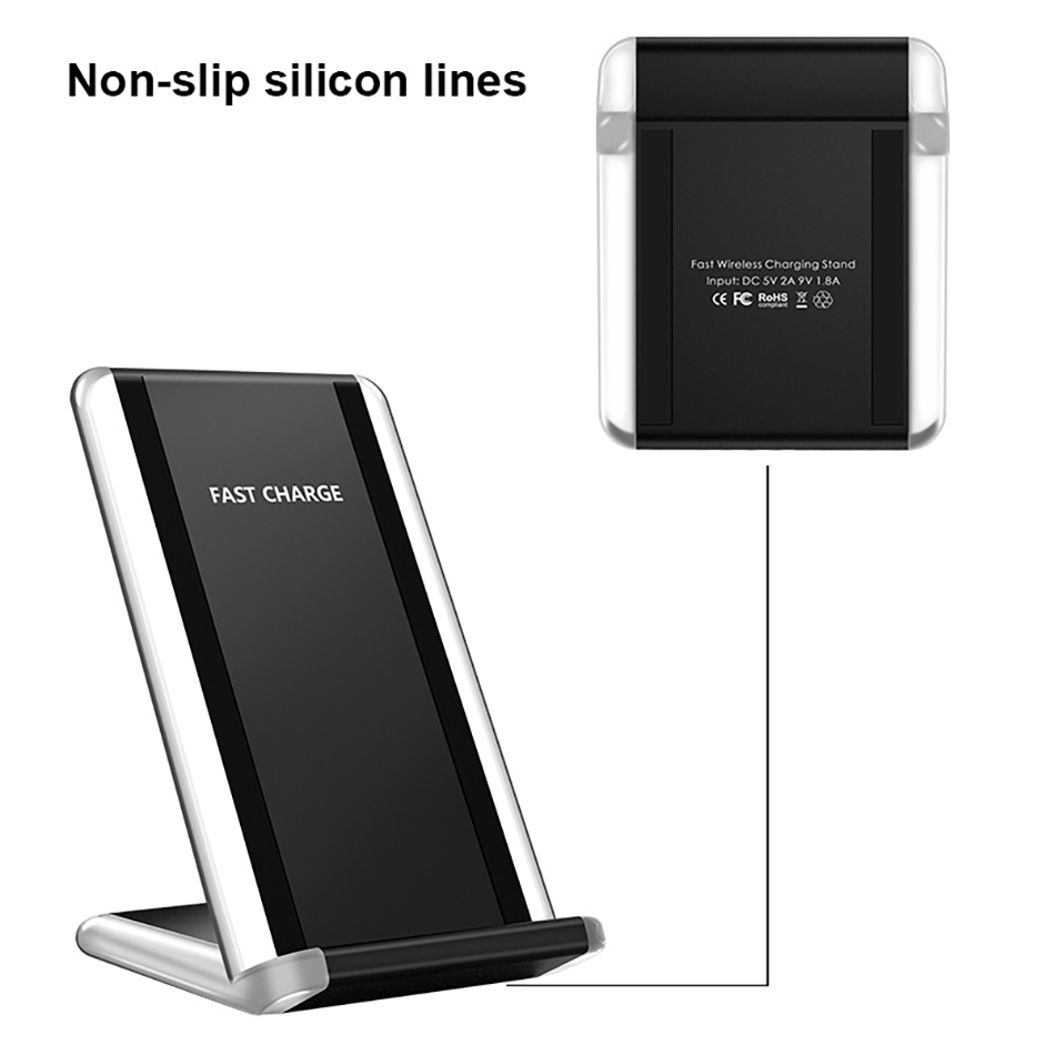 !ACCEZZ 7.5W Fast Qi Wireless Charging For iPhone X 8 Plus 10W For Samsung Galaxy Note 58 5W Wireless Charge For Google Nexus 4 (7)