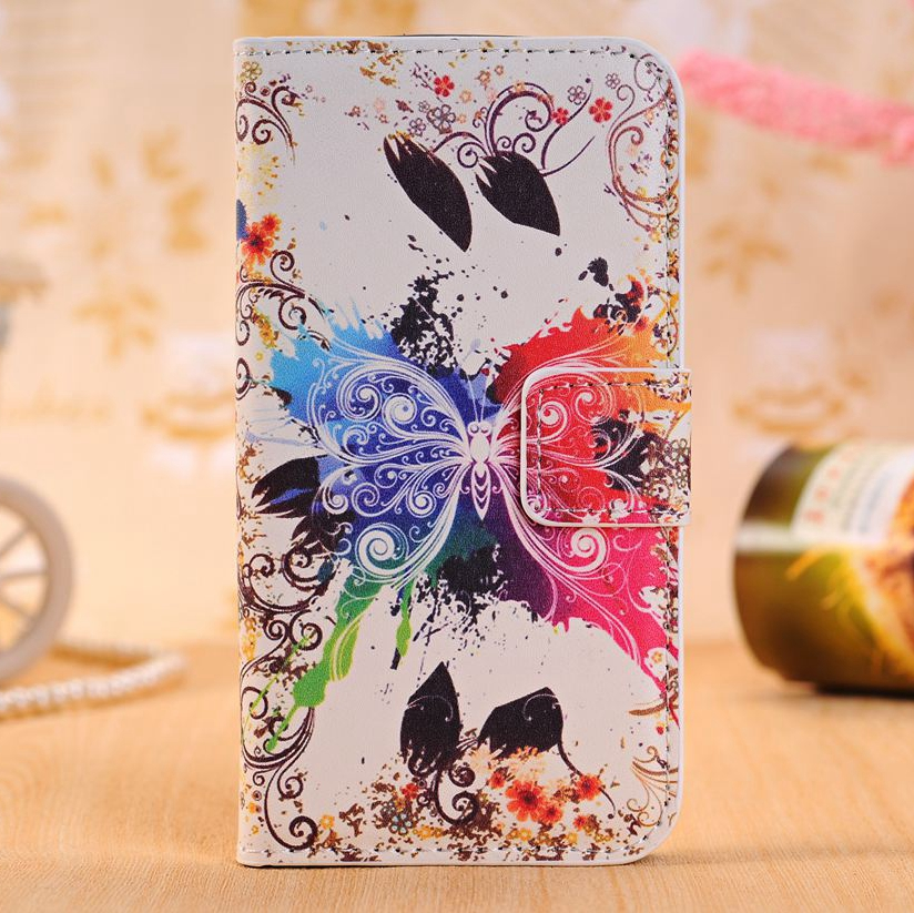 Butterfiy Leather Phone Case For Samsung Galaxy S3 S4 S5 S6 S7 Edge Plus A310 A510 G530 G360 G355H S7562 i9082 i9060 Back Cover