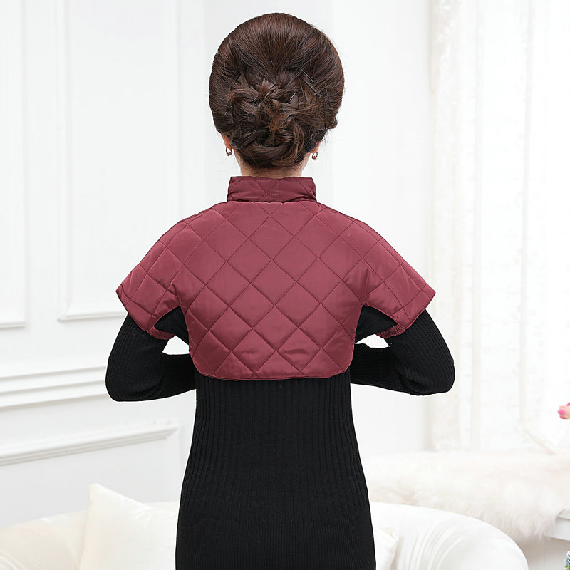 Woman Puffer Shoulder Padded Vest Winter Autumn Women Quilted Shoulder Pad Waistcoats Female Stand Collar Wadded Weskit Womens Belero Vest (8)