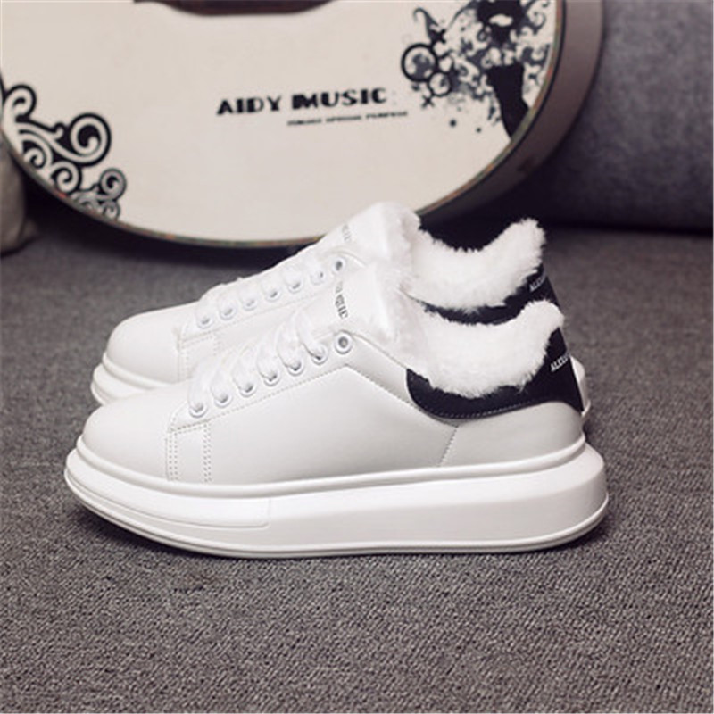 D KNIGHT Brand Women Casual White Shoes 2019 Spring Winter Women Flats Platform Shoes Fashion Lace-Up Women Sneakers Big Size 44 (1)