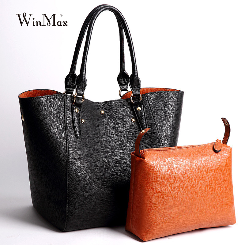 Luxury Brand Women Large Handbag Solid Patent Leather laptop Shoulder Bag Big Tote Multifunction Wristle Bag For young Mom gifts la maxza gifts for valentine s day leather tote bag for women large commute handbag shoulder bag zipper women s work satchel bag