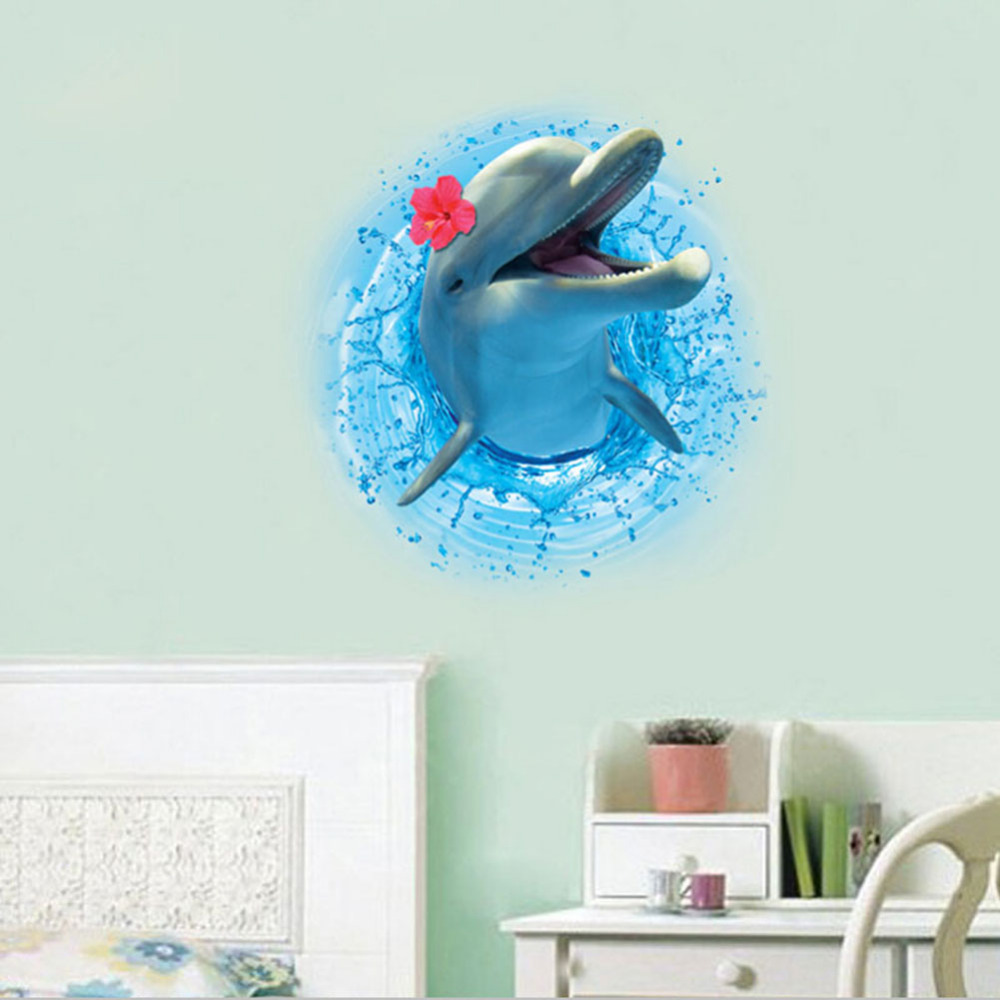 Creative 3d wall sticker dinosaurs dolphin wall stickers living creative 3d wall sticker dinosaurs dolphin wall stickers living room bedroom adornment for kids room christmas gift home decor in wall stickers from home amipublicfo Image collections