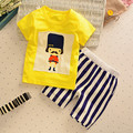 retail! 2016 summer baby boys clothes sets cartoon kids clothes cotton overalls suits for child costume baby clothing hot sale