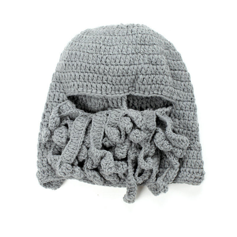 f5f6a6c72 US $7.18 20% OFF|Casual Wholesale Funny Tentacle Octopus Pattern Beanies  Hat Cap Wind Mask Winter Warm Knitted Wool Face Mask Knit Hat Squid Cap-in  ...
