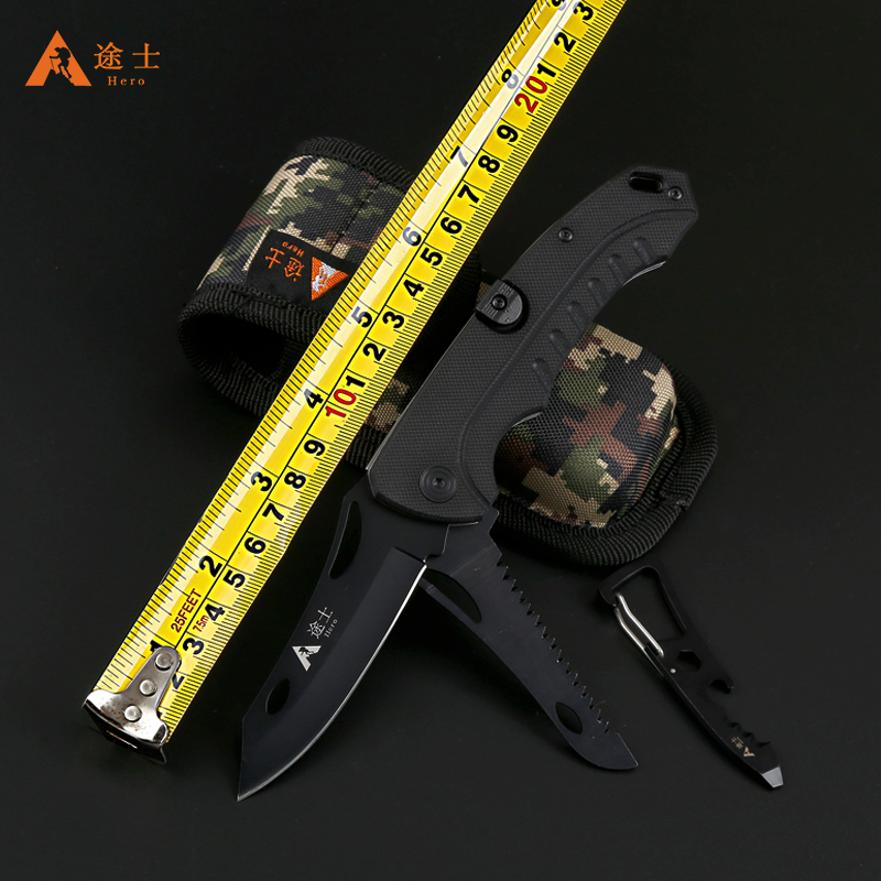 Free Shipping High Quality G10 handled pocket camping survival font b knives b font font b