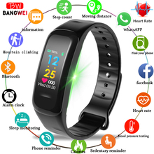 BANGWEI New Smart Watch Men Women Sports Bluetooth Heart Rate Blood Pressure oxygen Sleep Monitor Pedometer
