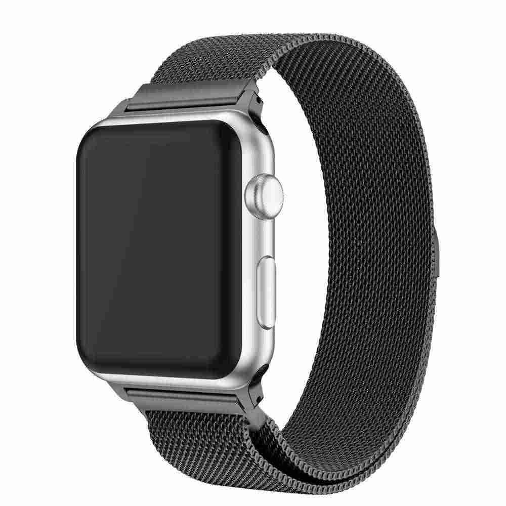 Saat kayışı Paslanmaz Çelik Milanese Döngü Bantları Apple Için İzle serisi 1/2/3 42mm 38mm 40mm 44mm Bilezik izle 4 film