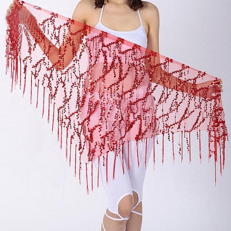 Belly Dance Waist Chain Indian Dance Hip Scarf Sequins Bandage Dance Belt Bellydance Belt Bellydance Hip Scarf 9 Colors