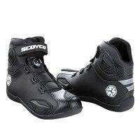 Motorcycle Boots Botas Moto Motociclista Stivali Motocross Bottes MBT010 Men Women Road Auto Riding Racing Shoes