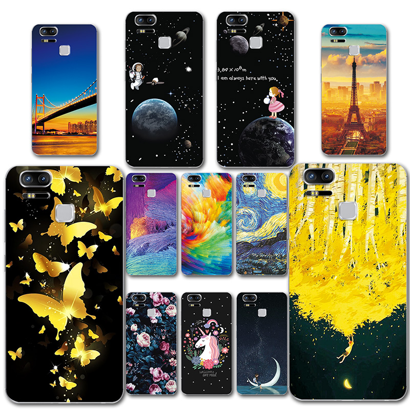 Phone Bags & Cases Fitted Cases Soft Tpu Phone Case For Asus Zenfone 3 Zoom Ze553kl Cover Colorful Painted Novelty Bags Para For Asus 3zoom Ze 553kl Capa Fundas