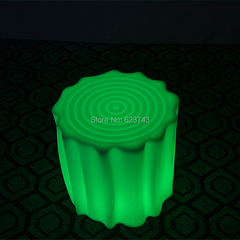 Decoration Waterproof Chargeable Multicolor Led Bar Stool for Bar KTV Christmas Party with Stump Style