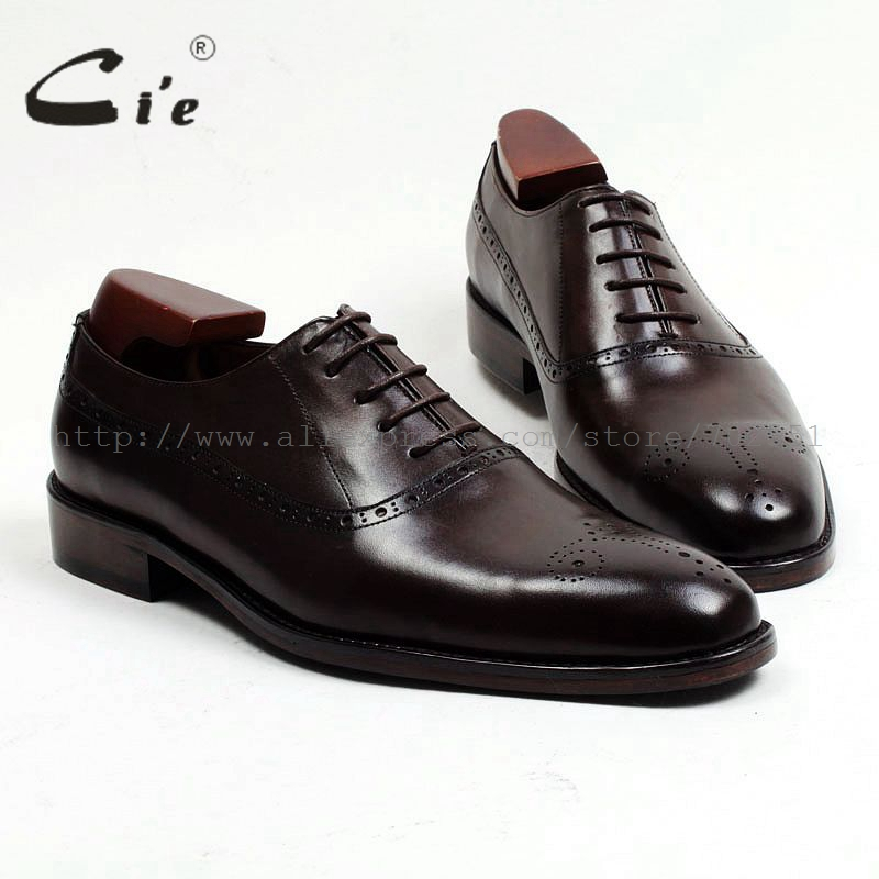 cie Free shipping custom narrow handmade genuine calf leather outsole work men's dress oxford color coffee brown shoe No.OX464 купить часы haas lt cie mfh211 zsa
