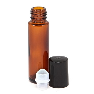 Image 5 - 12pcs 10ml Amber Empty Refillable Glass Perfume Roll On Bottle with stainless steel roller ball for essential oil aromatherapy