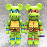 New Arrival 400% Bearbrick Cosplay Ninja Turtle PVC Action Figure Fashion Toys In Retail Box