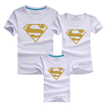 Matching Family Clothes 2016 Supermen T-shirt Male Harajuku Sport T Shirt Men Brand Clothing Tshirt Poleras Mother Father Baby