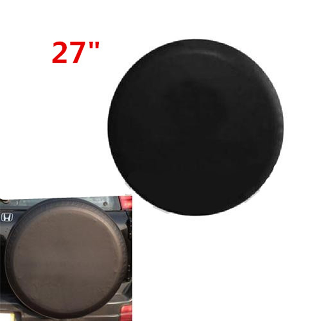 27 inch car spare tire tire cover sun shade dust. Black Bedroom Furniture Sets. Home Design Ideas