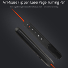 Promo offer [AVATTO] RF 2.4G Wireless Presenter with Air Mouse Function PowerPoint Remote Control PPT Clicker Presentation Pointer Laser Pen