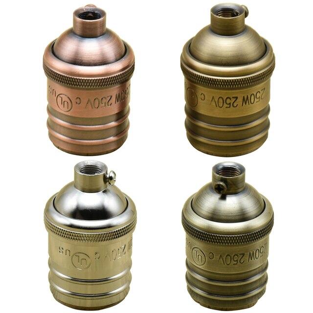 acheter e27 vintage douille de lampe loft vis ampoule bases support de lampe en. Black Bedroom Furniture Sets. Home Design Ideas