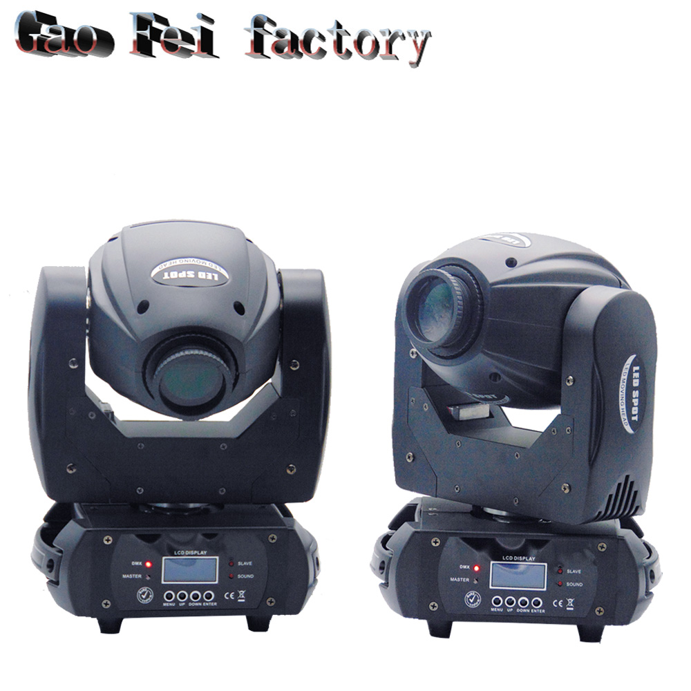60W LED Moving Head Light 3 Face Prism Spot Light With Rotation Gobo For DJ Stage Dmx (2pcs/lot)
