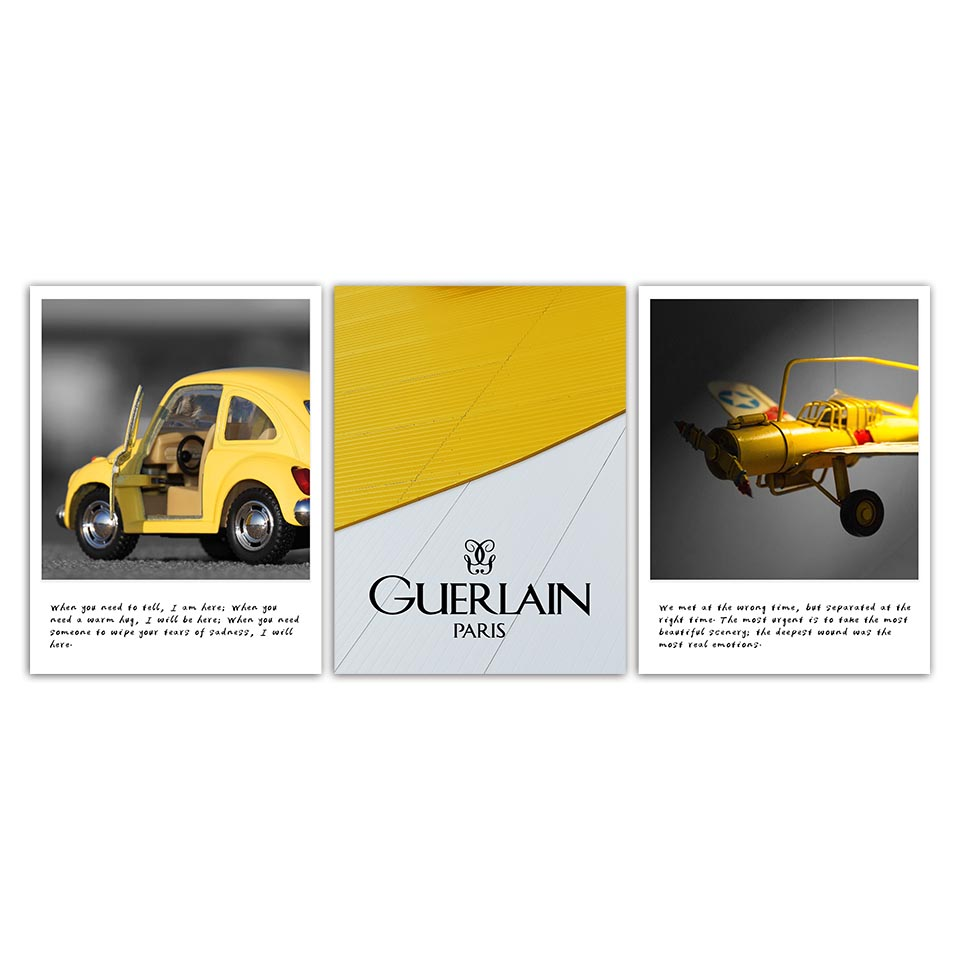 Modern Quotes Wall Art Nordic Posters Pictures Yellow Toy Car Plane