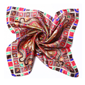 [LESIDA] 2016 Del Arco Iris Diseño de La Corona de La Vendimia Cuadrada de Seda Pura Mujeres Foulard Bufandas Collar de Satén Sin Fisuras Bandana Headwear XF1073