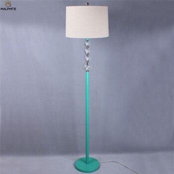 Amerykańska Kryształowy Lampy Podłogowe Nowoczesne Proste Salon Lampa Stojąca Sypialnia Nocna Stojak światła Na ścianie Domu Deco Lampa Podłogowa
