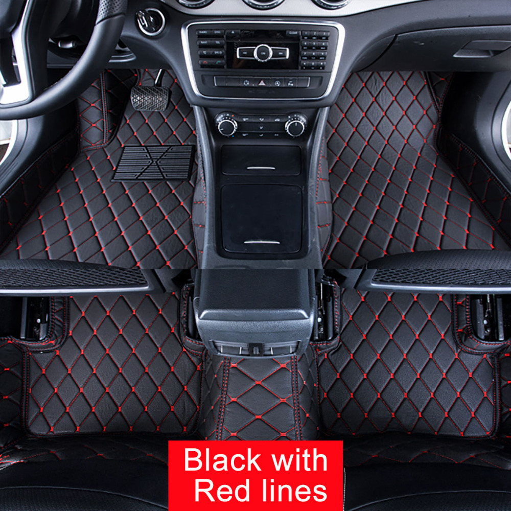 Car Floor Mats Case for Toyota Highlander 5/7 seats Customized Auto 3D Carpets Custom-fit Foot Liner Mat Car Rugs Black