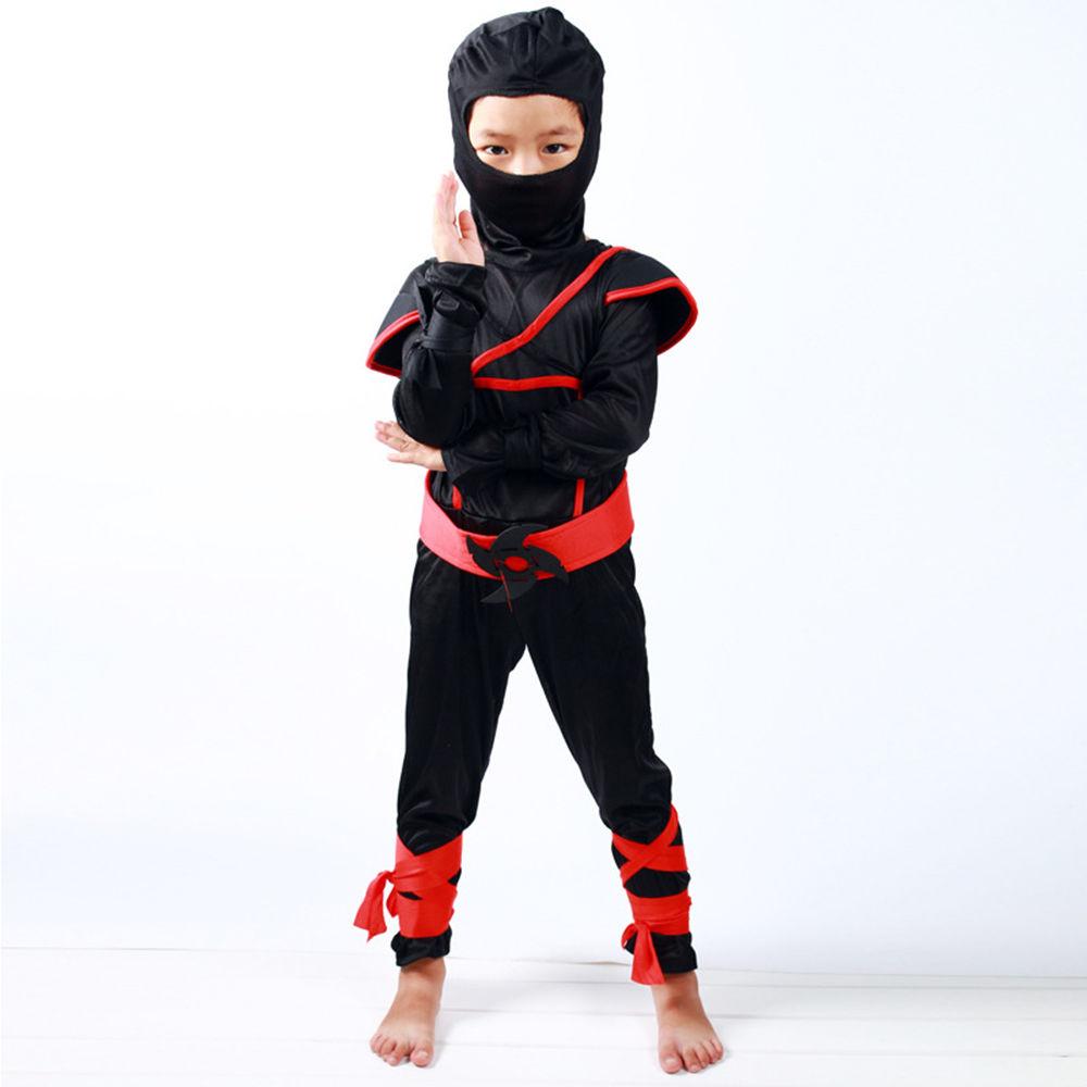 Boys Kids Ninja Assassin Japanese Samurai Warrior Fancy Dress Cosplay Costume