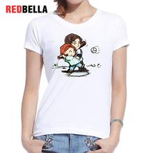 REDBELLA 2017 Poleras De Mujer Moda Print Ulzzang Kawaii Characters Cute Graphic Cool Tumblr Clothing Short Sleeve O Neck Tops