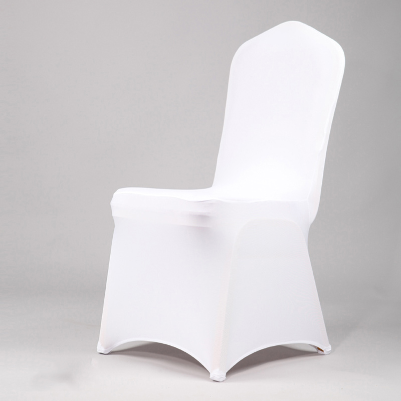 Superb Us 9 27 42 Off High Quality Universal White Hotel Lycra Stretch Wedding Chair Covers Party Banquet Dining Hotel Decoration Decor 15 Colour Ct In Gmtry Best Dining Table And Chair Ideas Images Gmtryco