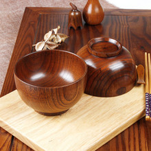 1pcs Japanese Style Wooden Bowl Soup/Salad Rice Bowls Natural Wood Tableware Bowl Eco-friendly Ice Cream Bowls Creative Fruit 5 6 8 inch japanese cherry blossom ceramic ramen bowl large instant noodle rice soup salad bowl container porcelain tableware