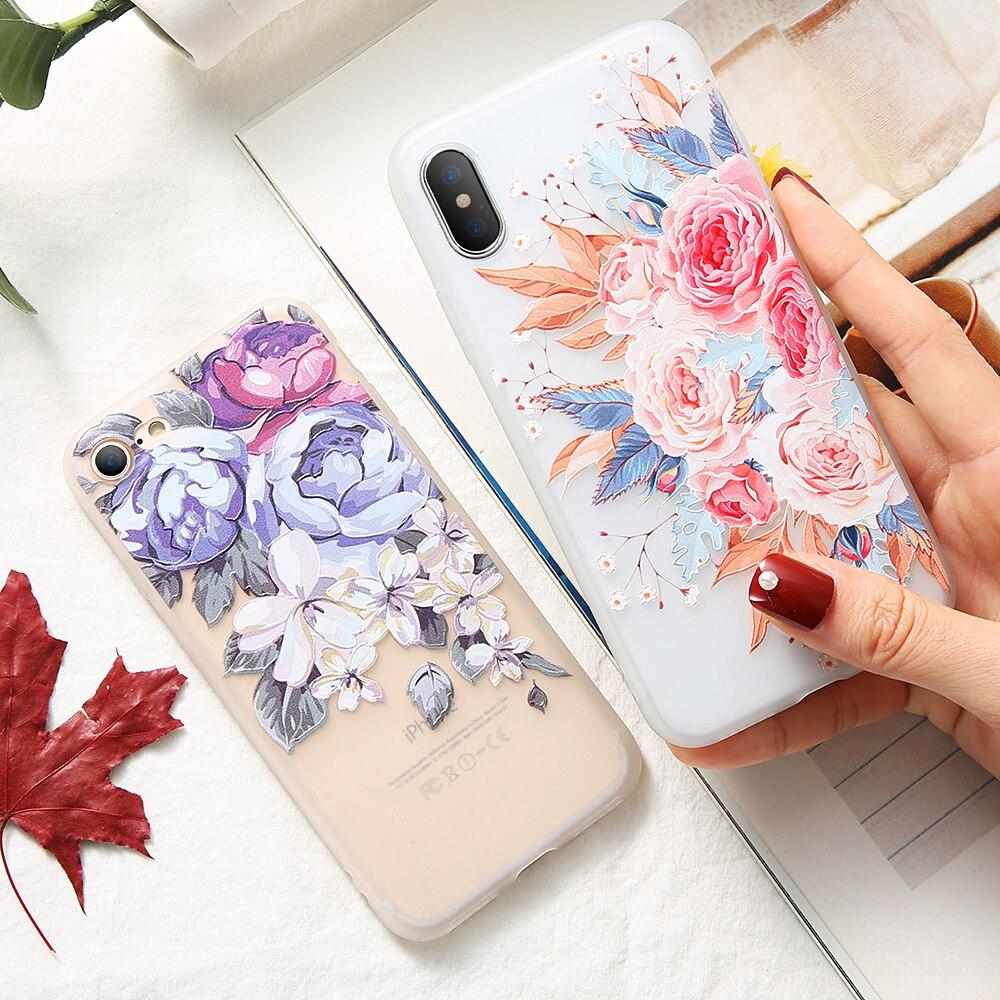 3D Emboss Floral Case For Xiaomi Redmi 6 Pro 5 Plus 4X 5A Soft Silicone Phone Case For Redmi Note 4 5 5A 6Pro Back Case