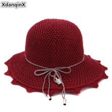 XdanqinX Novel Adult Lady Sun Hat Foldable Breathable Womens Straw 2019 New Peculiar Elegant Fashion Beach Hats For Women